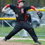 Elyria's Kevin Cloen pitches against Avon Lake. KRISTIN BAUER | CHRONICLE