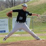 Elyria Catholic's Joey Begany pitches. STEVE MANHEIM/CHRONICLE