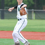 Elyria Catholic's Andrew Abrohamowicz pitches against Wellington. KRISTIN BAUER/CHRONICLE