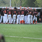 Buckeye High School celebrates a successful inning against Keystone. KRISTIN BAUER | CHRONICLE