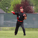 Elyria shortstop Zack Minney throws out the batter. CHRISTY LEGEZA/CHRONICLE