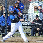 Midview's Zach Nash hits a two-run RBI single in the second inning. STEVE MANHEIM/CHRONICLE
