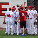 Elyria celebrates after a successful no-score inning against Midview.  KRISTIN BAUER | CHRONICLE