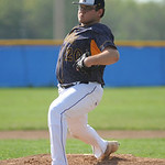 North Ridgeville's Matt Freierabend pitches against Midview on Tuesday. KRISTIN BAUER | CHRONICLE