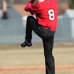 Elyria's Brad Conley pitches against EC at Elyria High. photo by Ray Riedel