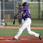Marcus Gunter of Keystone lines up for a hit in the first inning of the Div III district championship, in Parma. photo by Ray Riedel