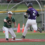 A very close call. A the top of the 7th inning, the ball is entering Joey Begany's mitt as Pierce Young's foot is inches from the plate. Pierce was called safe and advanced to score one of K …