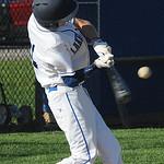 Lake Ridge Academy's Jake Roach hits an RBI single in the third inning April 24.  STEVE MANHEIM / CHRONICLE