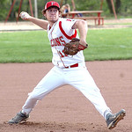 Firelands' starting pitcher #11 Justin Baumann.
