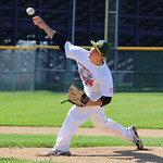 Amherst's Justin Mott pitches during the All-Star game. CHRISTY LEGEZA/CHRONICLE