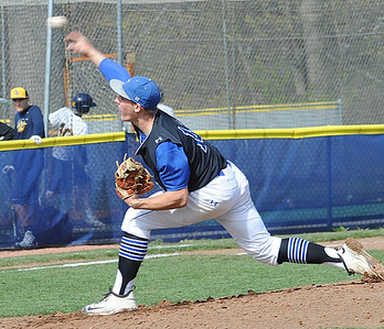 Dylan Brister pitches for Midview against Olmsted Falls on May 3.  STEVE MANHEIM/CHRONICLE