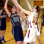 Clearview's #20 Sydney Wright grabs the rebound before Avon Lake's #12 Logan LeDuc.