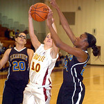 Clearview's #24 Desiree Ray tries to block Avon Lake's #10 Kay Butrey's shot.