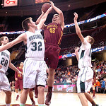 Avon Lake's #42 Brad Hamilton shoots past Strongsville.