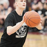 Kody Bender, winner of Lorain County Mr. Basketball, competes in the 3-point shoot out at Oberlin College. photo by Ray Riedel