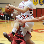 Brookside's Cameron Drew drives to the basket. STEVE MANHEIM/CHRONICLE