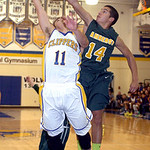 Amherst's Casey McConhie blocks Clearview's Eric Burkey. LINDA MURPHY/CHRONICLE