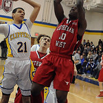 Lutheran West's Chris Scott shoots past Clearview's Daimon Knowles. STEVE MANHEIM/CHRONICLE
