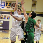 Vermilion's Kyle Nader takes a shot over Columbia's Jay Banyasz. STEVE MANHEIM/CHRONICLE