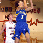 Clearview's Gerrell Williams shoots past Lutheran West's Andrew O'Hara. LINDA MURPHY/CHRONICLE