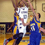Lorain's Devon Andrews drives past Clearview's Jason Young. LINDA MURPHY/CHRONICLE