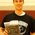 Eric Stuczynski of Avon Lake won the 3-point shooting contest. Photo by Tom Mahl