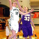 EC's #12 Riley Schill shoots past Avon's #33.