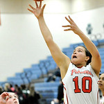 Elyria's Shayla Middlebrooks shoots in the first half against Twinsburg. DAVID RICHARD / CHRONICLE