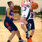 Westlake's Rebecca Essig looses control of the ball as she tries to drive past Berea-Midpark's Stasha Carey. LINDA MURPHY/CHRONICLE