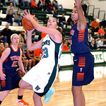 Westlake's Monica Fury tries to shoot past Berea-Midpark's Erin O'Neill. LINDA MURPHY/CHRONICLE