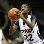 Lorain's Tremia Blair takes a foul shot. RAY RIEDEL/CHRONICLE