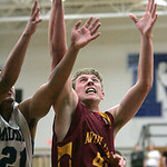 #21 Midview Justin Morris and #42  Avon Lake Brad Hamilton fight for a rebound.  photo b CHuck Humel