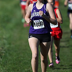 12Oct13_Jillian Peters of Keystone near the first mile mark of the PAC championship. Jillian finished 13th helping Firestone to their 1st place team victory. photo by Ray Riedel