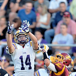 Avon wide receiver Zack Torbert, left, catches a touchdown pass against Avon Lake's Cole Schmidt in the second quarter. DAVID RICHARD / CHRONICLE