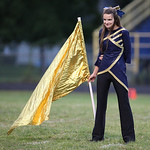 13SEP13_Pre-game band and flag corps performace at North Ridgeville High School. photo by Ray Riedel