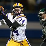Avon's Zack Torbert hauls in a touchdown pass against Highland's Collin Paich during the third quarter. (RON SCHWANE / CT)