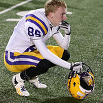 Avon's Jake Bitter reacts after losing to Highland in the Regional Championship game. (RON SCHWANE / CT)
