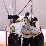 Amherst celebrates their second goal.