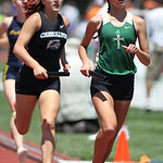 Rachael Iacofano runs the first leg of the 4x800m final at the OHSAA state championship. photo by Ray Riedel