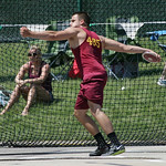 Avon Lake's Max Seiple throws the discus at the OHSAA state championship. photo by Ray Riedel