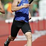 Brunswick's Tyler Laffin runs the first leg of the 4x800m final at the OHSAA state championship. photo by Ray Riedel