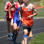 Buckeye's Colin Theis came in 9th place in the the 800m finals at the Division II Regional championships in Lexington. photo by Ray Riedel