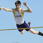 Josh Brown of Avon competes in the boys pole vault. STEVE MANHEIM/CHRONICLE