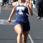 Andresja Dearmas of Lorain runs in the girls 100 meter dash preliminaries. STEVE MANHEIM/CHRONICLE