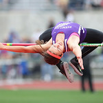 "Vermilion's Hannah Bartlome clears 5' 3"" for 3rd place at the OSHAA state track meet in Columbus. photo by Ray Riedel"