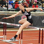 Keystone's Jenna Quillen places first in the girl's 100m hurdles on Thursday. KRISTIN BAUER | CHRONICLE