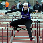 Vermilion Annie Rossi wins girls 100 meter hurdles at West Shore Conference championships May 15.  Steve Manheim