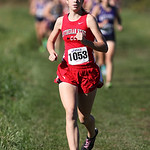 12Oct13_Michaela Bierly of Lutheran West builds an early lead near the 1 mile mark of the PAC cross Country championship at Buckeye High School. photo by Ray Riedel