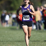 12Oct13_Shannon Wargo of Keystone comes in 2nd place, but leads her team to a 1st place victory at the PAC cross country championship at Buckeye High School. photo by Ray Riedel