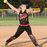 N. Newman of M.C. Madness Black pitches at the ASA state softball semi-final game. photo by Ray Riedel